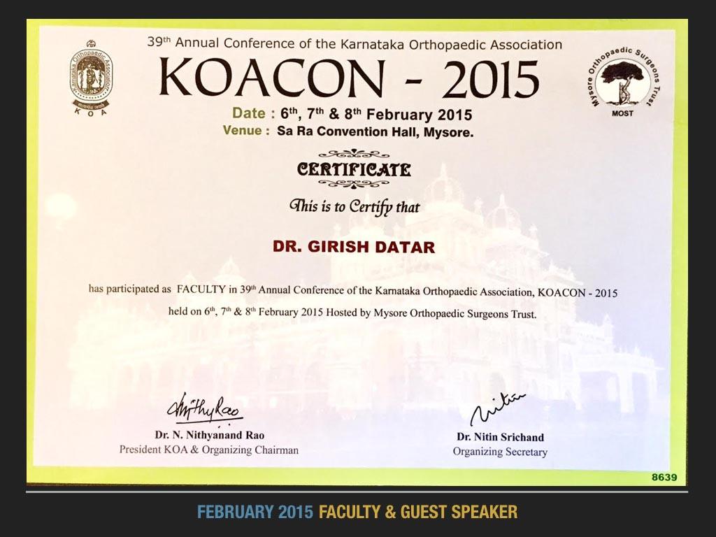 KOACON 2015, Faculty & Guest Speaker